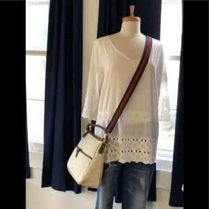 Gucci Supreme Lg Cross Body Hand Bag GG + Pictures